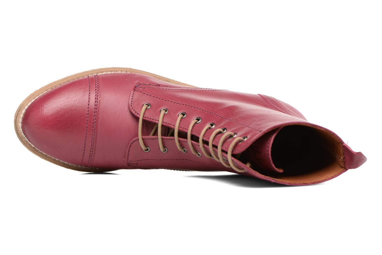 Stiefeletten & Boots Ippon Vintage Denim Road weinrot ansicht von links