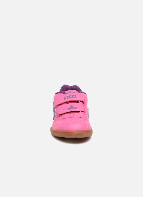 Baskets LICO Bernie V Rose vue portées chaussures