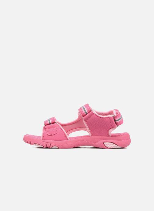 Sandalen LICO Crispy V rosa ansicht von vorne