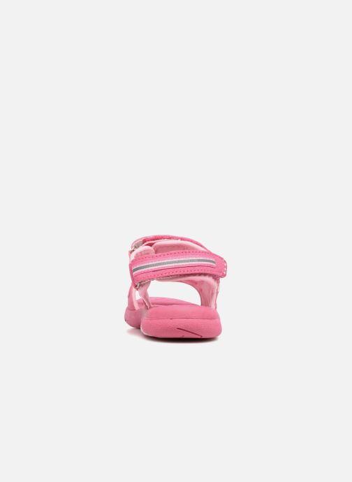 Sandalen LICO Crispy V rosa ansicht von rechts