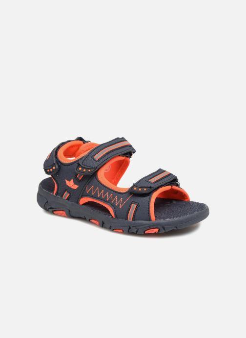 Sandals LICO Crispy V Blue detailed view/ Pair view