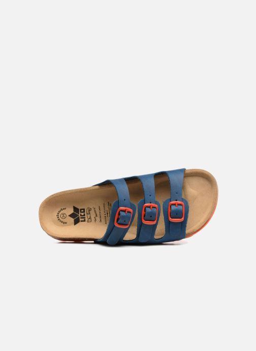 Sandalen LICO Bioline Kids blau ansicht von links