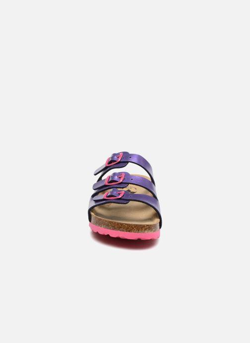 Sandalen LICO Bioline Kids lila schuhe getragen
