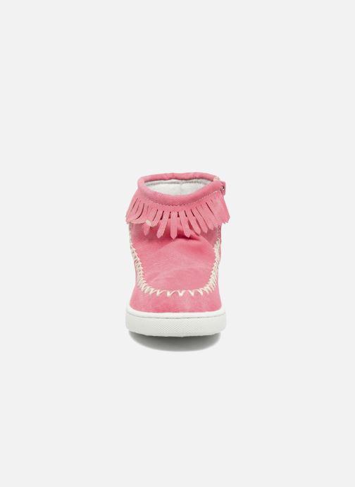 Bottines et boots Esprit JOJO FRINGY Rouge vue portées chaussures