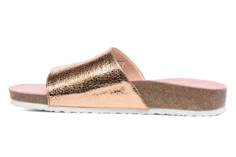 Sandales et nu-pieds Esprit LEA METAL MULE Or et bronze vue face