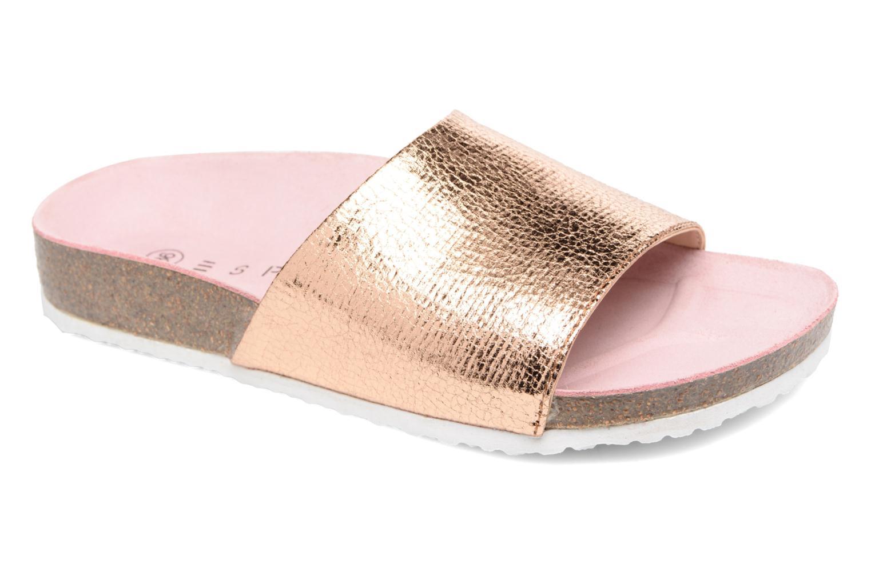 Sandales et nu-pieds Esprit LEA METAL MULE Or et bronze vue détail/paire