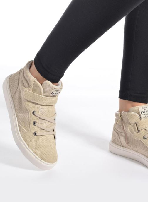 Sneaker Esprit FILOOU BOOTIE grau ansicht von unten / tasche getragen