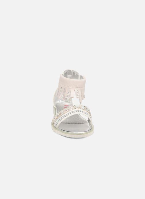 Sandales et nu-pieds ASSO Baccara Blanc vue portées chaussures