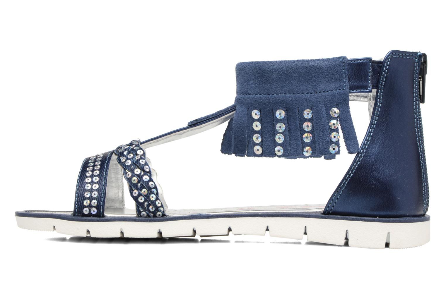 Sandals ASSO Baccara Blue front view