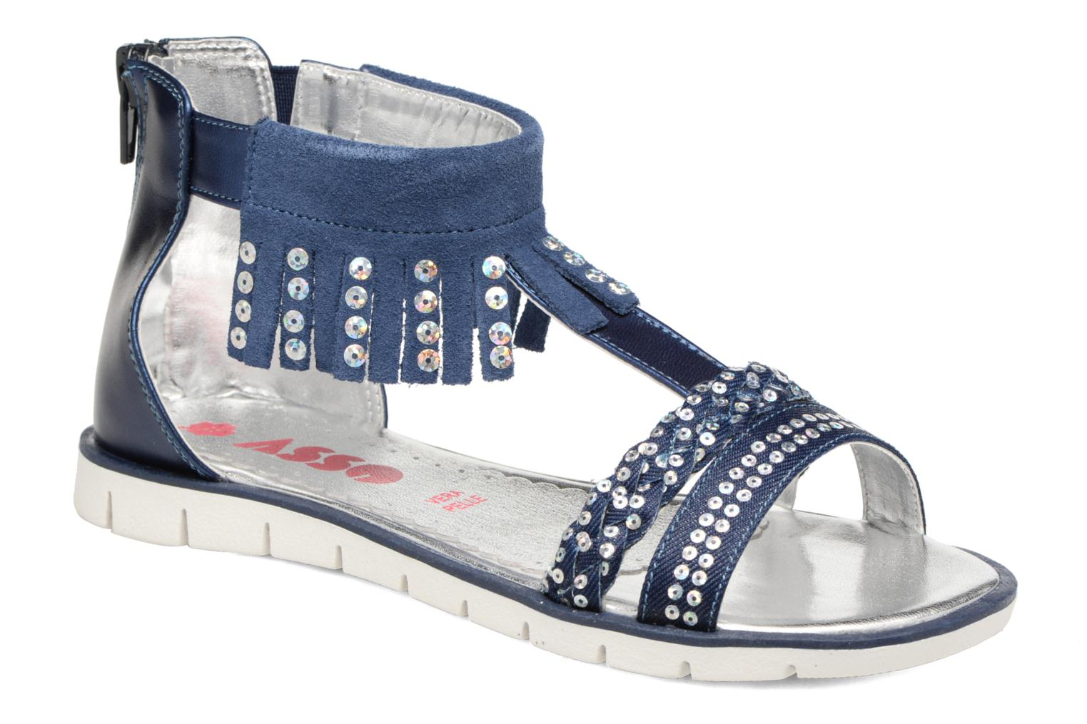 Sandals ASSO Baccara Blue detailed view/ Pair view