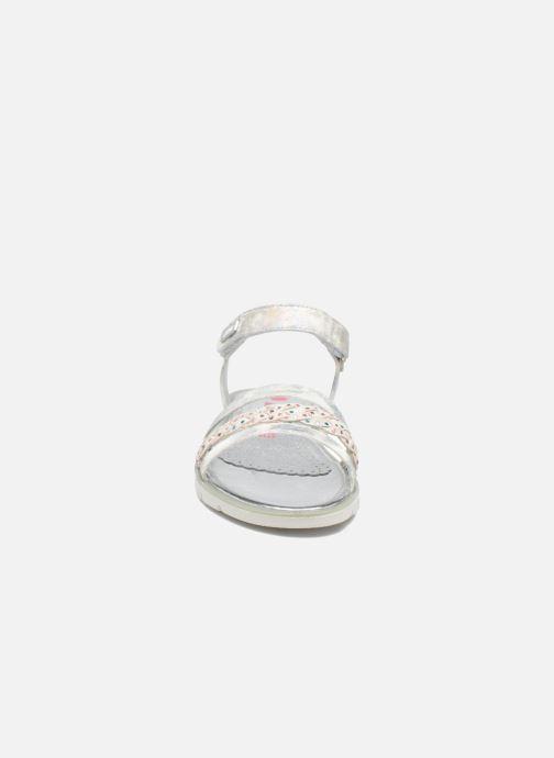 Sandales et nu-pieds ASSO Gabriella Argent vue portées chaussures
