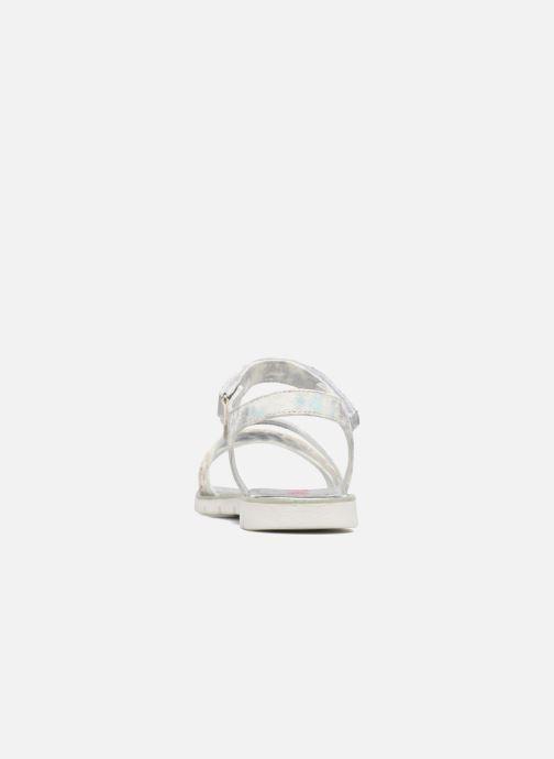 Sandales et nu-pieds ASSO Gabriella Argent vue droite