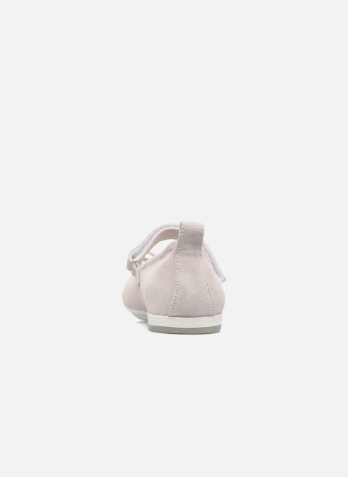 Ballet pumps ASSO Camelia White view from the right