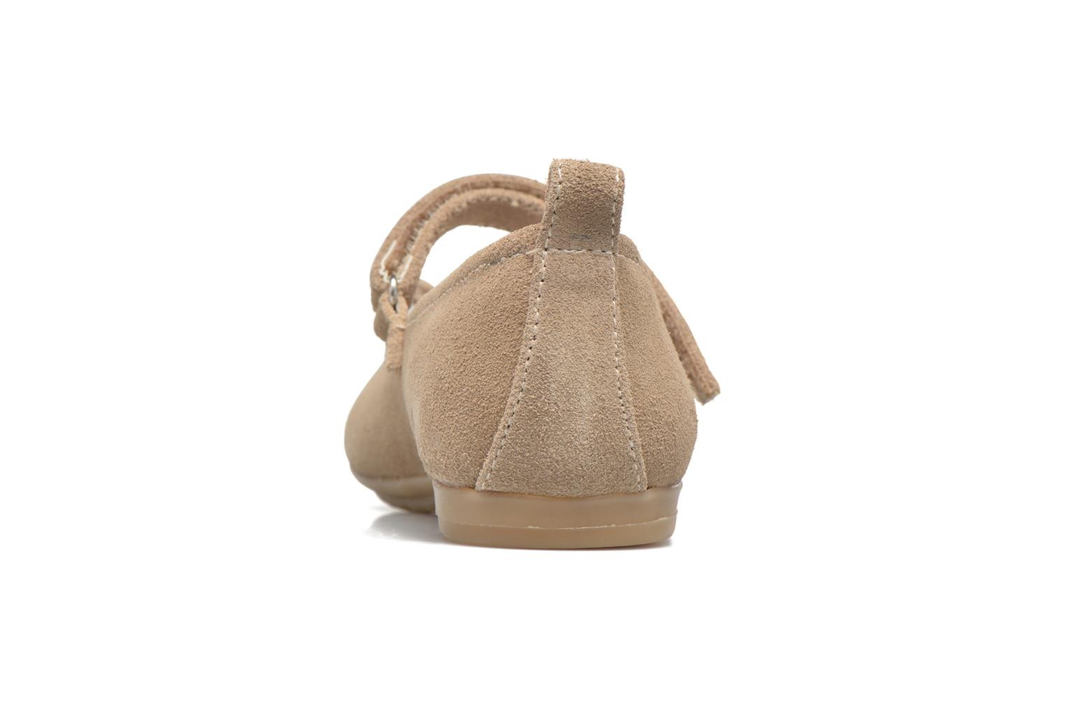 Ballet pumps ASSO Camelia Brown view from the right