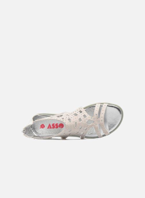 Sandalen ASSO Donata grau ansicht von links