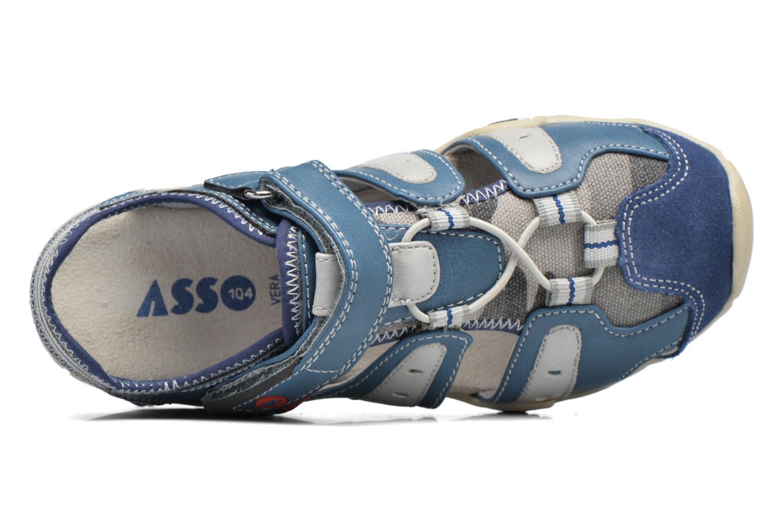 Sandalen ASSO Rodrigo blau ansicht von links