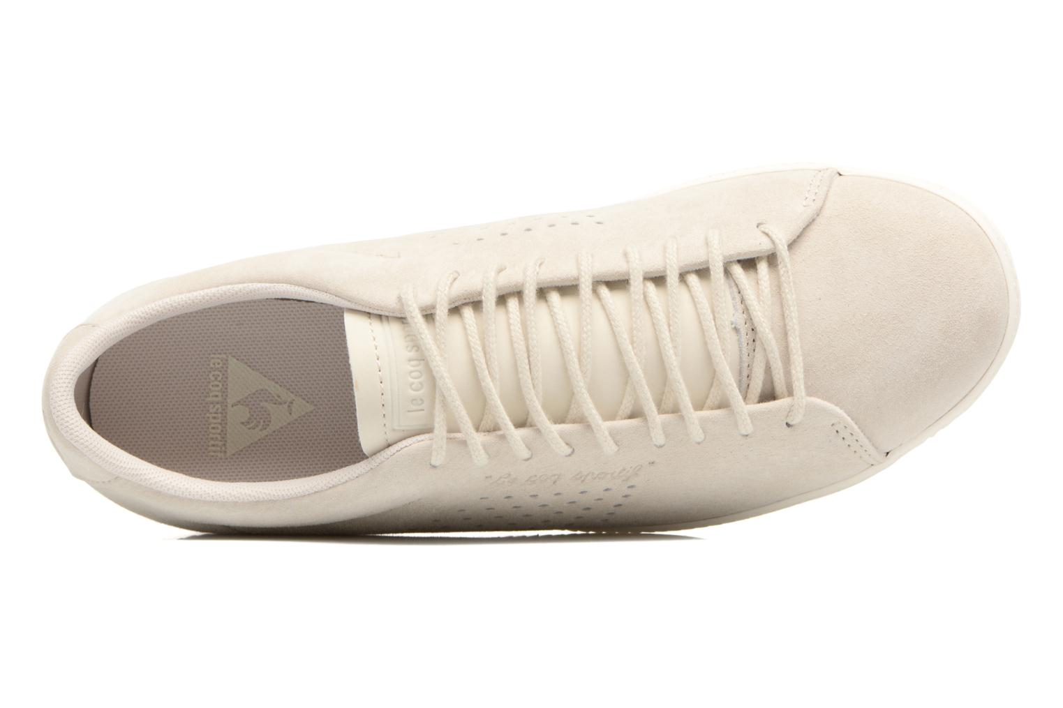 Trainers Le Coq Sportif Charline Nubuck Beige view from the left