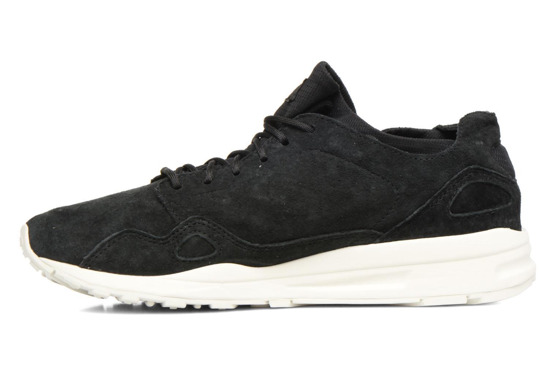 Sneakers Le Coq Sportif Lcs R Flow Nubuck Nero immagine frontale