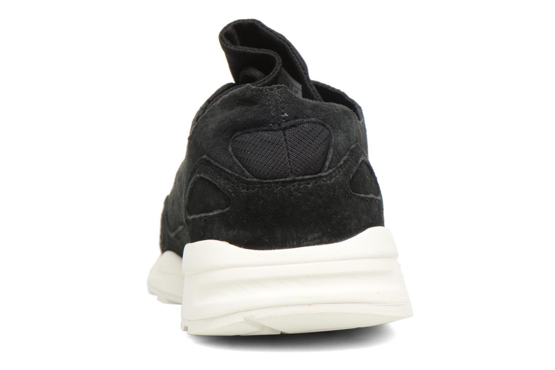 Sneakers Le Coq Sportif Lcs R Flow Nubuck Nero immagine destra