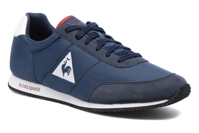 2325565bd381 ... real baskets le coq sportif racerone nylon bleu vue détail paire 4b1a9  4207a