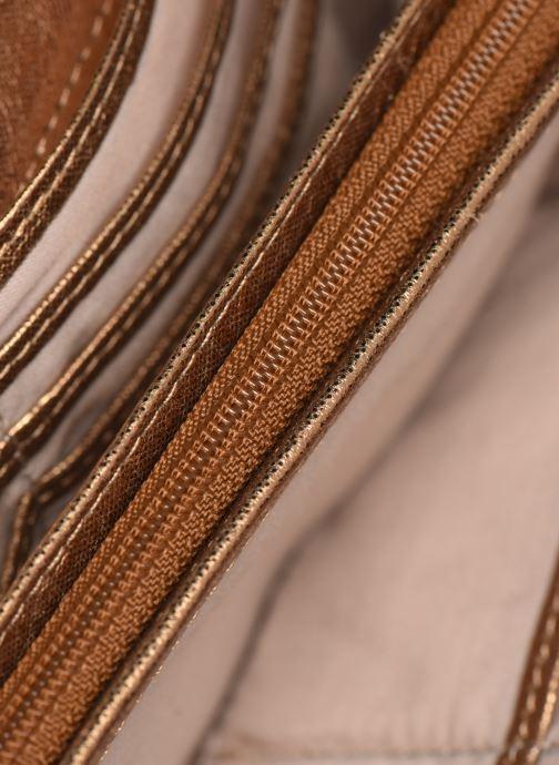 Kleine lederwaren Sabrina Cara Goud en brons achterkant