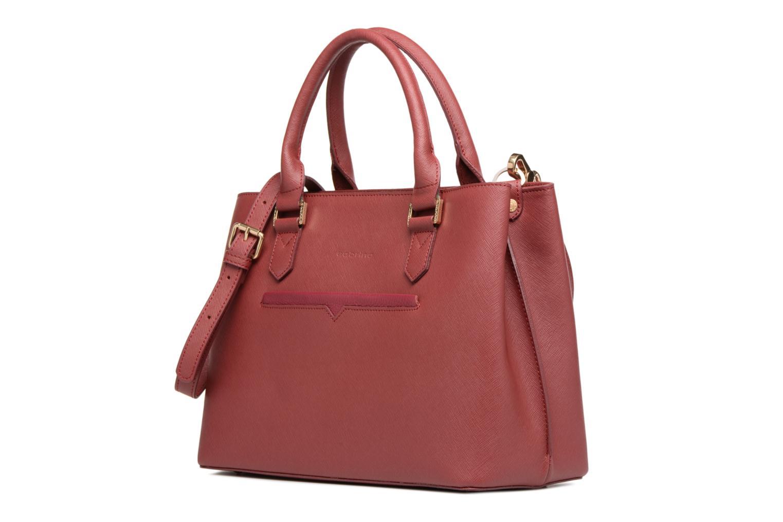 Handtaschen Sabrina Martina weinrot schuhe getragen