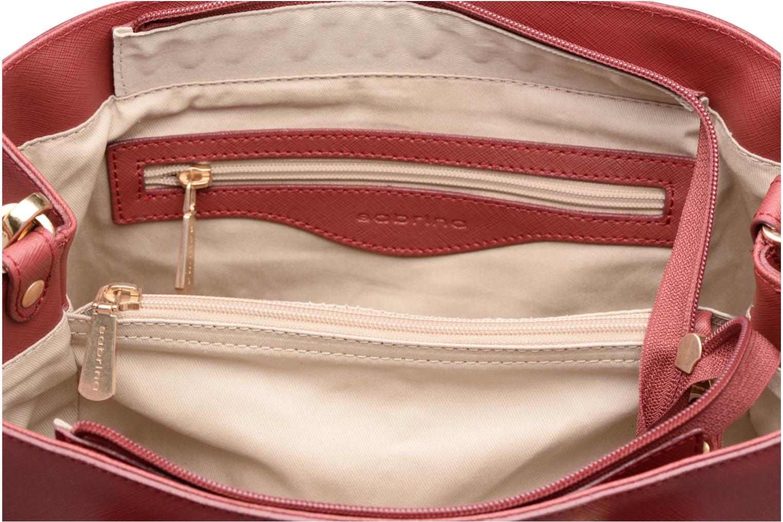 Handtaschen Sabrina Martina weinrot ansicht von hinten