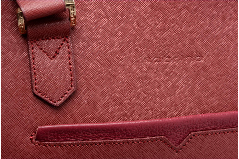 Handtaschen Sabrina Martina weinrot ansicht von links