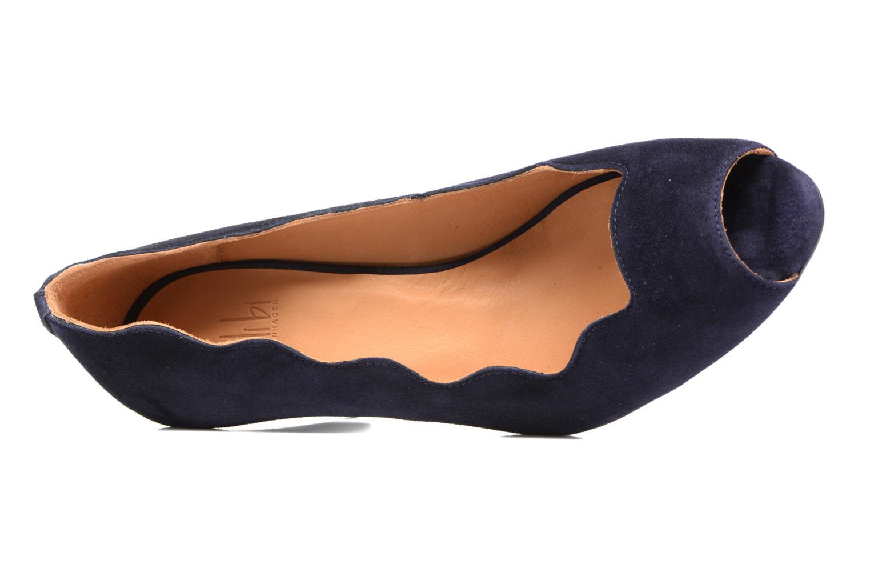 Escarpins Billi Bi Ischia Bleu vue gauche