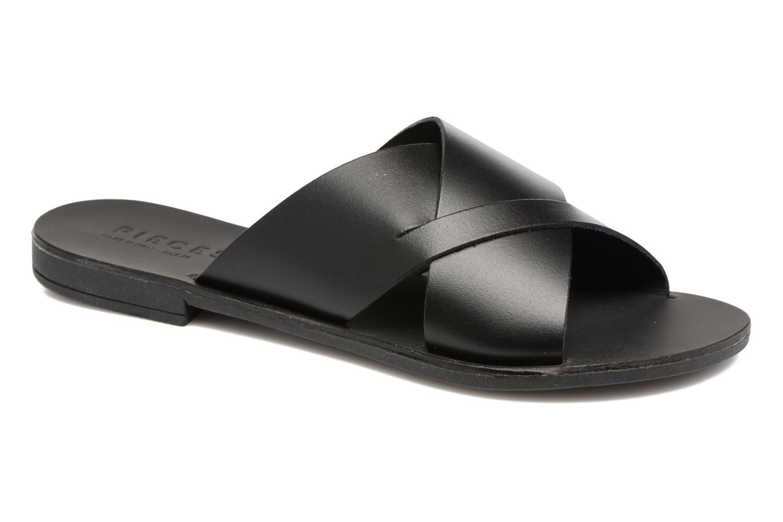Sandales et nu-pieds Pieces Pslucca Noir vue détail/paire