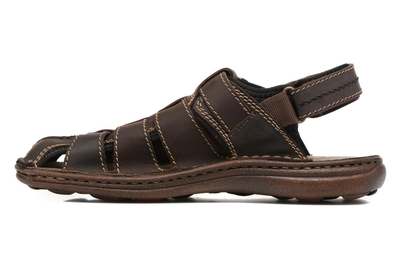 Sandales et nu-pieds Roadsign Georgie Marron vue face