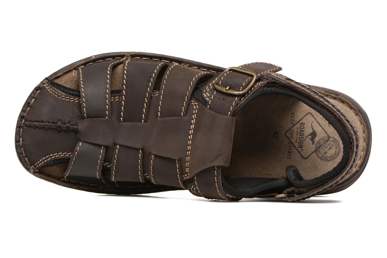 Sandales et nu-pieds Roadsign Georgie Marron vue gauche
