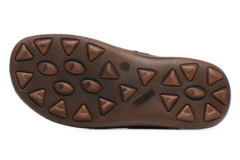 Sandales et nu-pieds Roadsign Georgie Marron vue haut