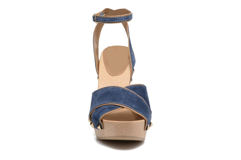 Sandalen Sonia Rykiel Sandale Sabot blau schuhe getragen