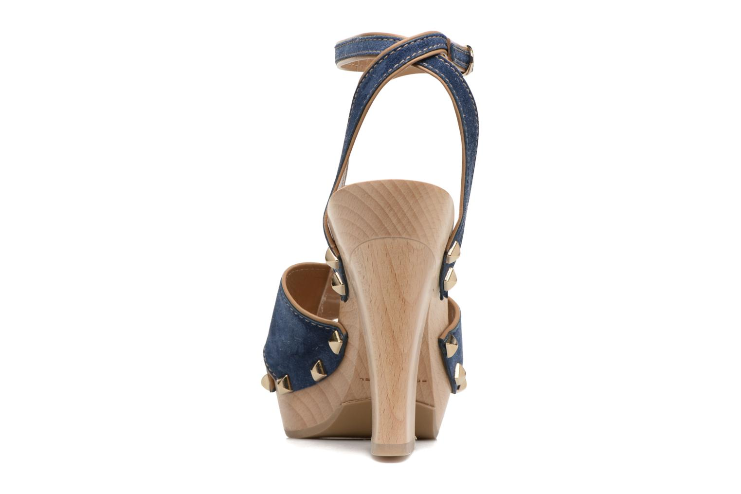 Sandals Sonia Rykiel Sandale Sabot Blue view from the right