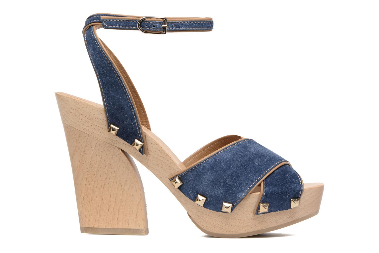 Sandalen Sonia Rykiel Sandale Sabot Blauw achterkant