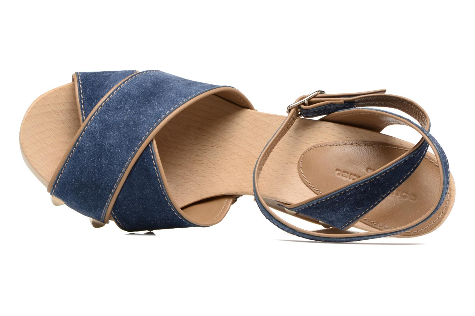 Sandals Sonia Rykiel Sandale Sabot Blue view from the left