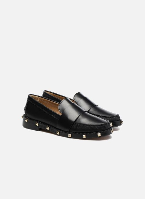 Loafers Sonia Rykiel Mocassin Clous Black 3/4 view