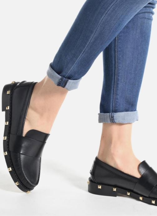 Loafers Sonia Rykiel Mocassin Clous Black view from underneath / model view