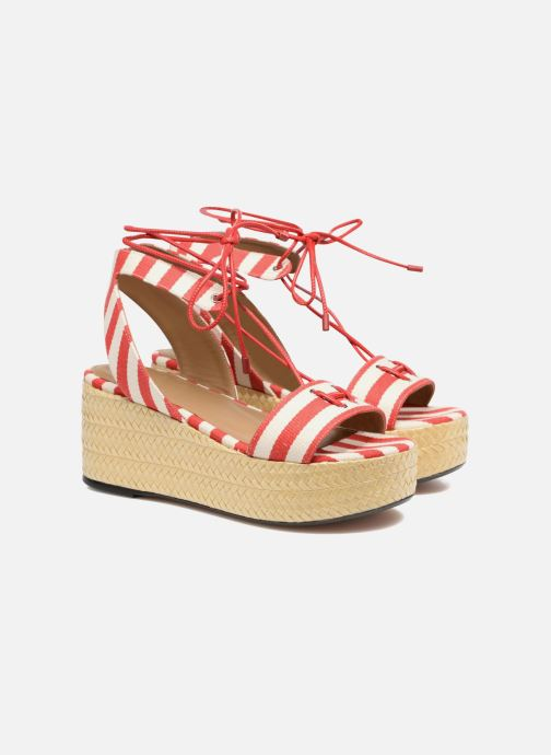 Sandales et nu-pieds Sonia Rykiel Sandale Plateau Rouge vue 3/4