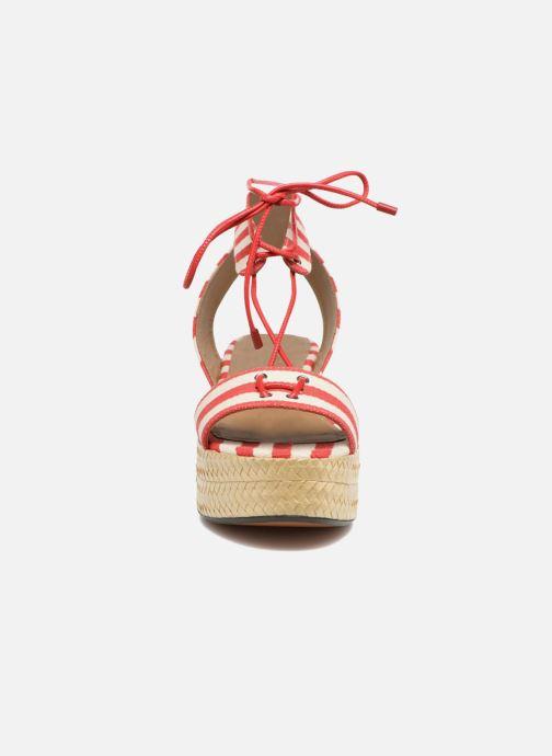 Sandalen Sonia Rykiel Sandale Plateau rot schuhe getragen