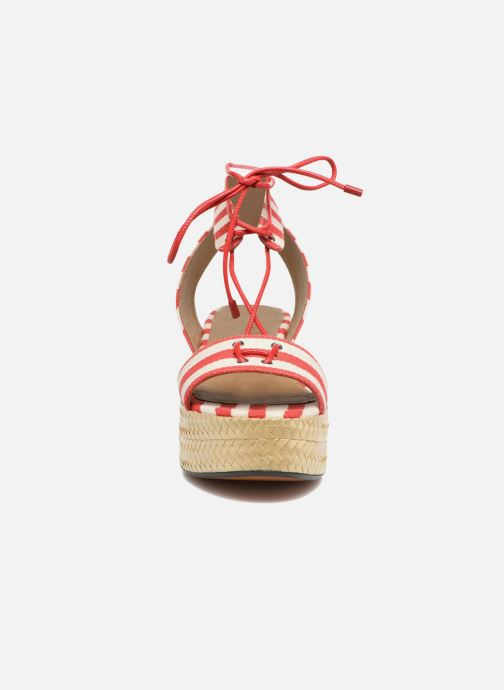 Sandali e scarpe aperte Sonia Rykiel Sandale Plateau Rosso modello indossato