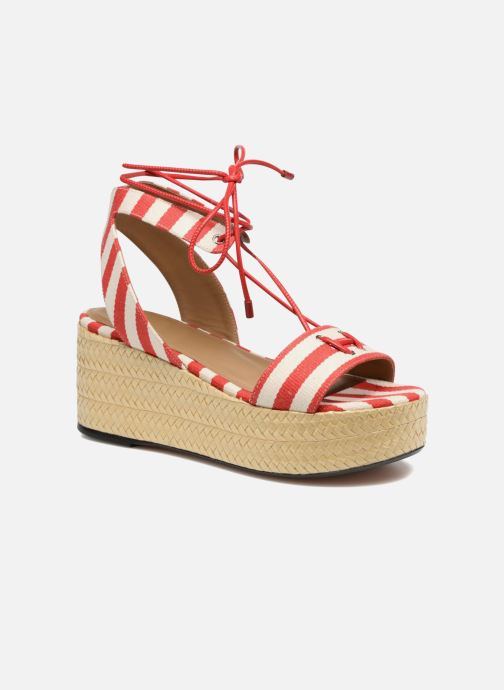 Sandals Sonia Rykiel Sandale Plateau Red detailed view/ Pair view