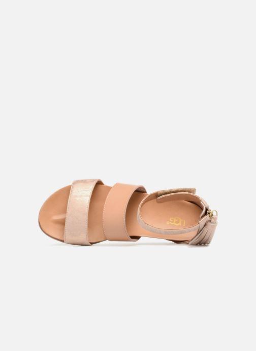 Sandales et nu-pieds UGG Marabel Metallic Argent vue gauche