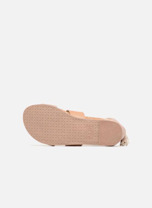 Sandales et nu-pieds UGG Marabel Metallic Argent vue haut
