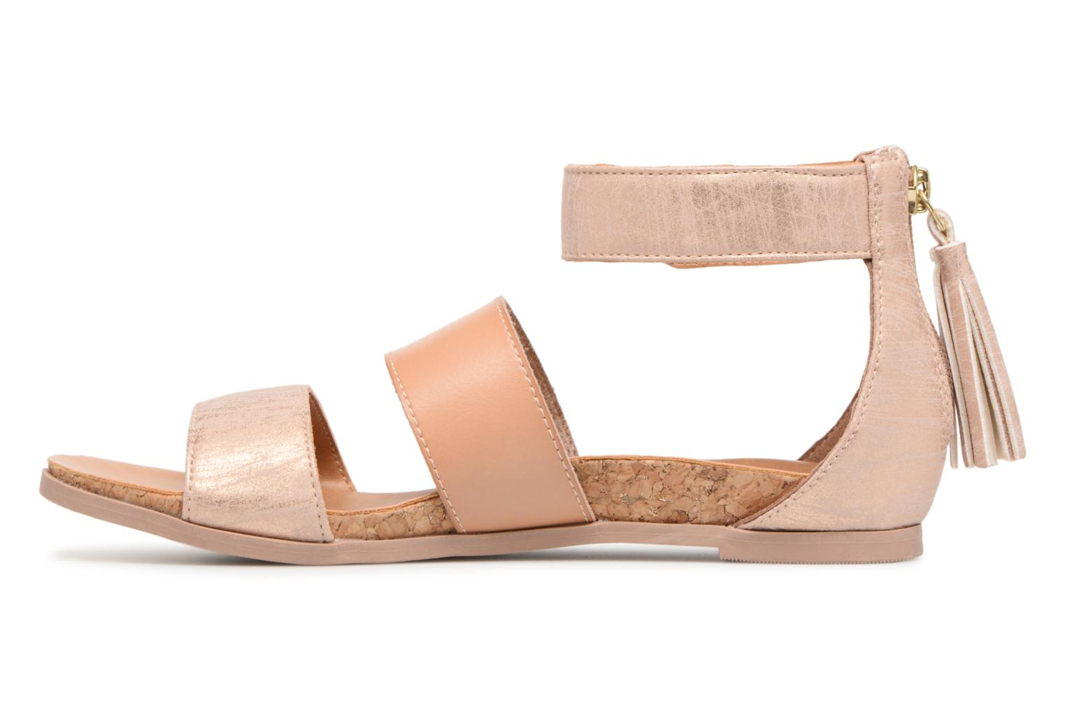 Sandals UGG Marabel Metallic Silver front view