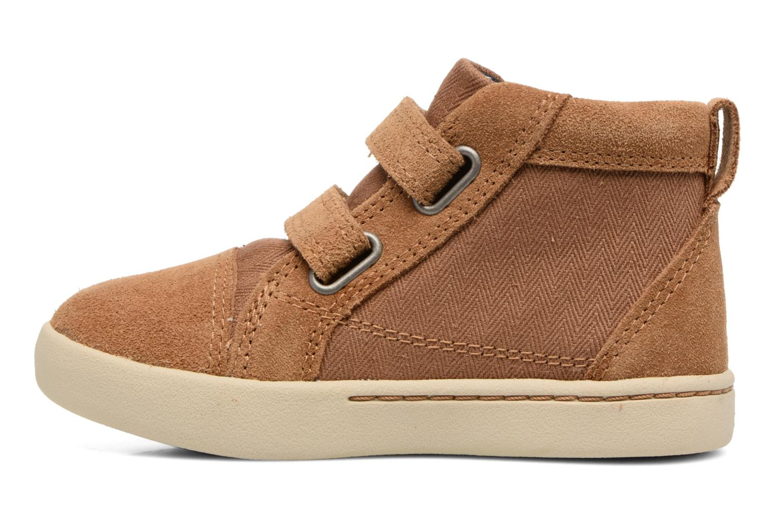 Chaussures à scratch UGG Rennon Herringbone Marron vue face