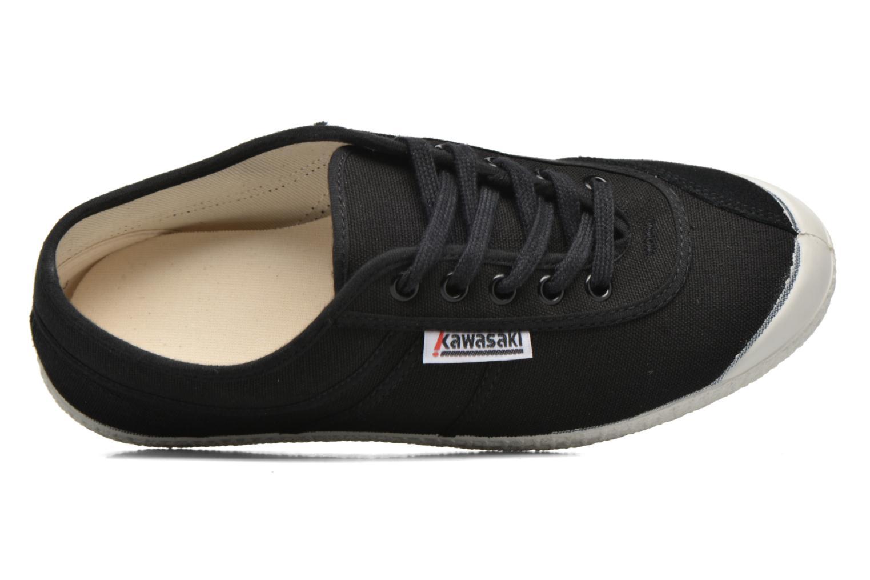 Chaussures à lacets Kawasaki Basic W Noir vue gauche