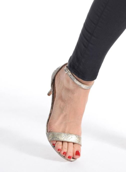 Sandals I Love Shoes MCGARCIA Black view from underneath / model view