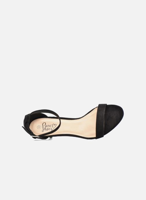 Sandales et nu-pieds I Love Shoes MCGARCIA Noir vue gauche